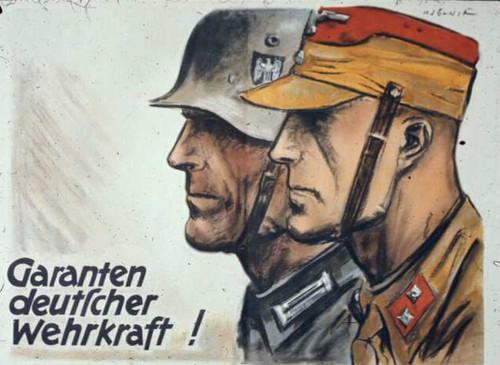 German: The guarantee of German military strength!