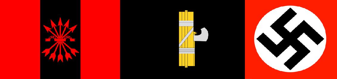 Spanish Falange, Italian Fasces, German Swastika