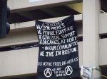 Anarchist Banner Drop