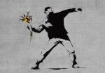Banksy Flower Molotov