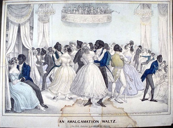 Confederate Cartoon, The Amalgamation Waltz