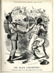 Confederate Cartoon, The Black Conscription