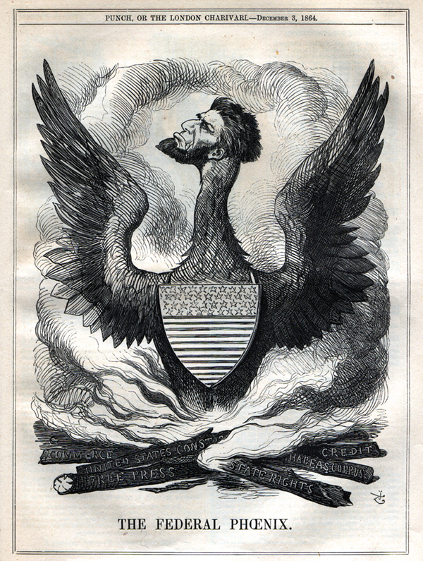 Confederate Cartoon, The Federal Phoenix