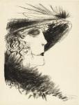 Dame Mitt Reiher by Otto Dix