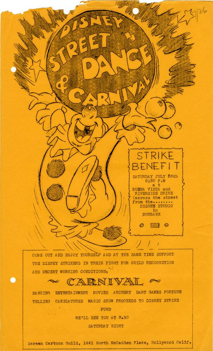 Disney Strike Benefit Poster