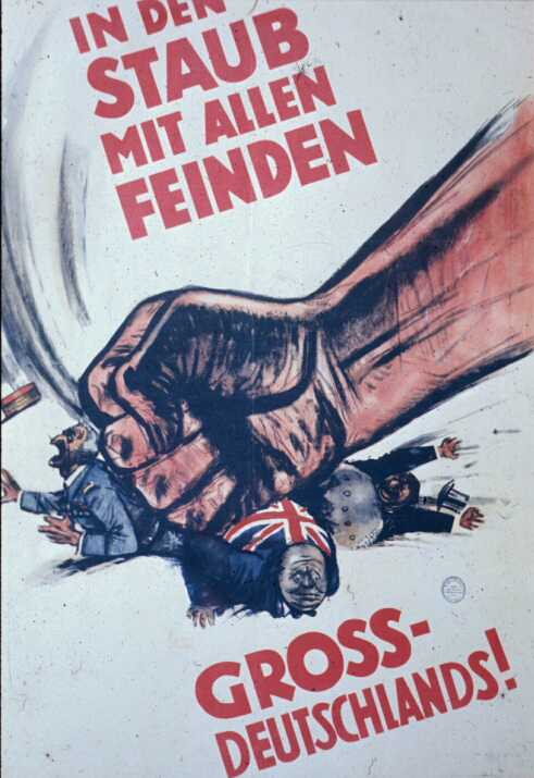 German. Smash the Enemies of Greater Germany!