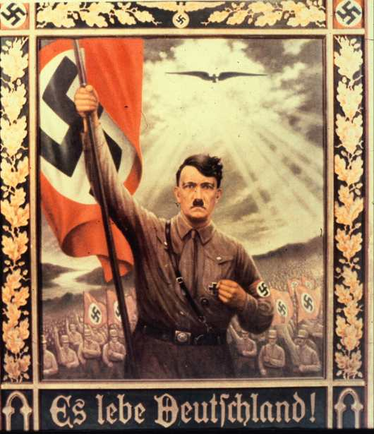 Germany. Cult of Personality Jesus Hitler
