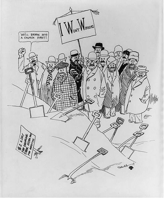 Anti-IWW cartoon: I Won't Work
