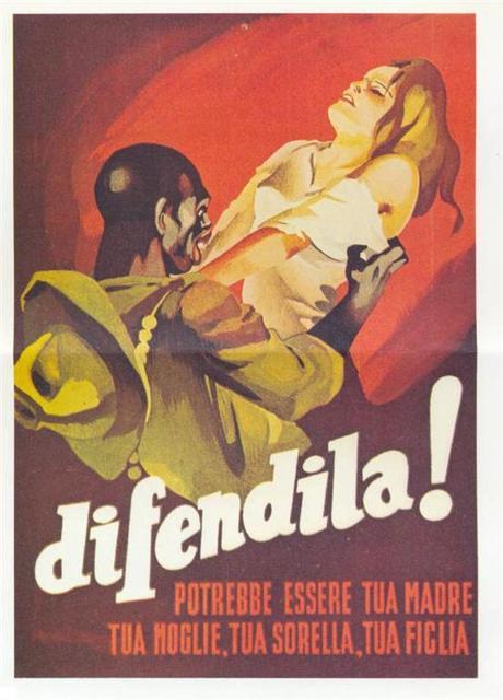 Italy. Racist Rape Poster