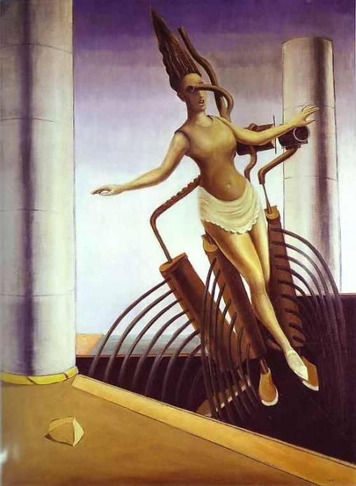 Max Ernst: Teetering Woman.