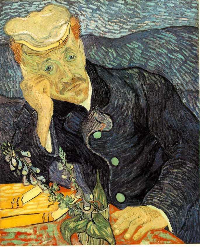 Portrait of Dr. Gachet by Van Gogh