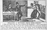 Union Cartoon, Selling a Mother from Her Child