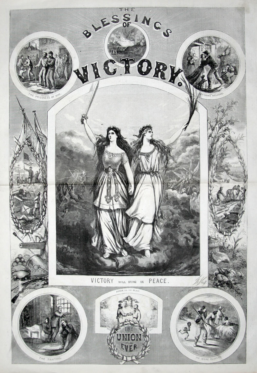 Union Poster, The Blessings of Victory